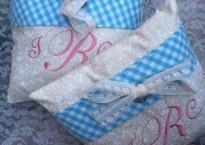Cordial Weddings - Monogrammed Ring Bearer Pillow