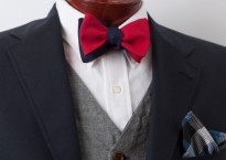 Red/Navy reversible bow tie from The Cordial Churchman