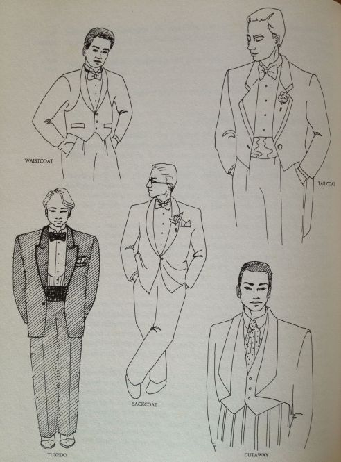 drawings of groom attire