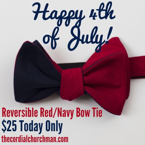 Red/Navy Reversible bow tie. $25 today only!